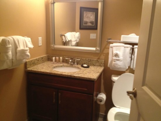 Wyndham Vacation Resorts Towers on the Grove: 1 bedroom oceanview bathroom