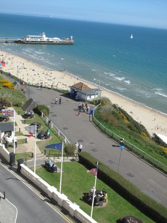 Overlooking The Beach Picture Of Bournemouth Highcliff