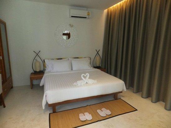 L'esprit de Naiyang Resort: Green villa bedroom