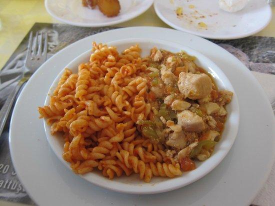Baskent Demiralan Hotel : Baskent Restaurant・・・メインの「サチカプルマ」マカロニ&鶏肉