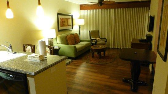 Grand Waikikian by Hilton Grand Vacations: Living Area