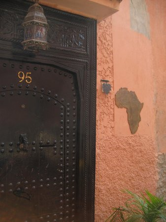 Riad Africa : Front door to the Riad