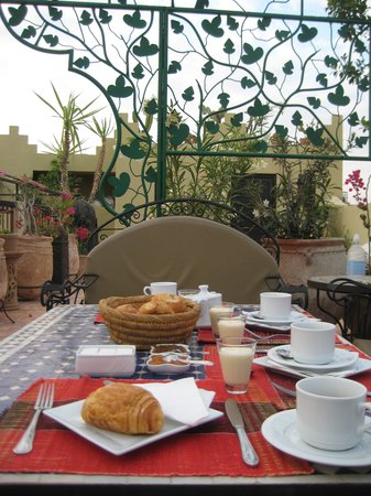Riad Africa : Breakfast on the terrace