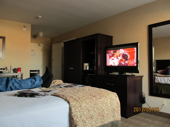 Skyline Hotel & Waterpark: great wardrobe and tv's