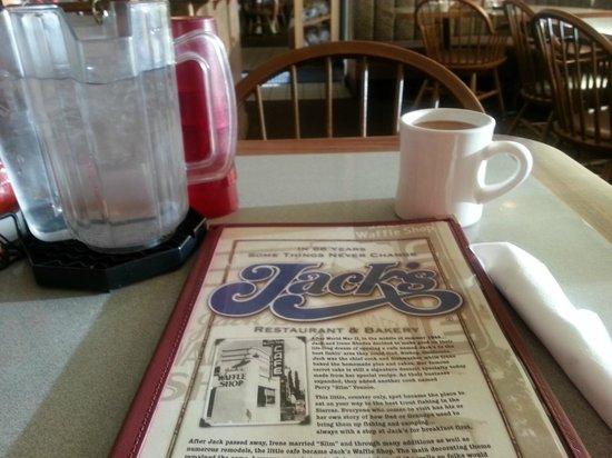 Jack's Waffle Shop: Menu