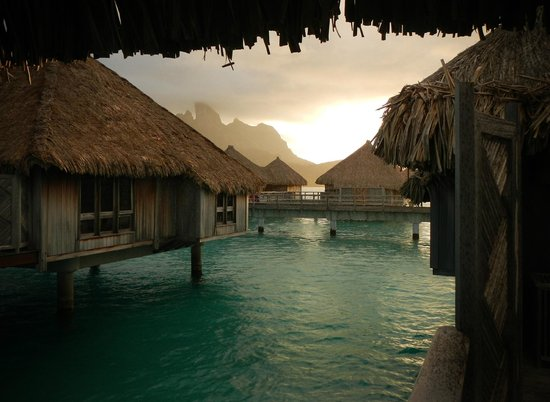 The St. Regis Bora Bora Resort: just after passing rain