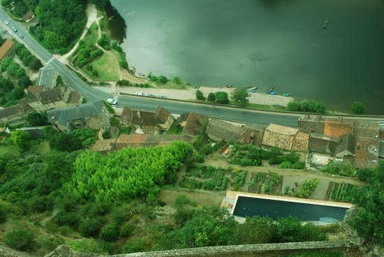 "Chateau de Beynac: view from the ""prow"""