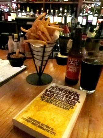 The Delachaise: Goose Fat Fries, a Beer, & a Good Book.
