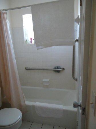 Shore Haven Resort Inn: Full Bathroom (tub is narrow)