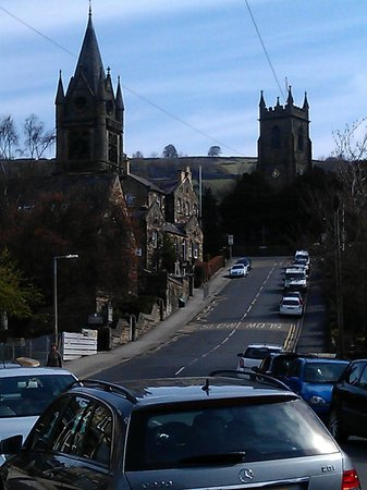 View up King Street from outside Roslyn House