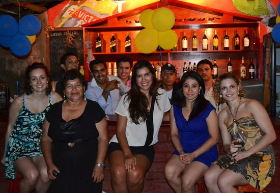 Latina Hostal: Latina Hostel board&staff. Our first picture together taken in our first anniversary
