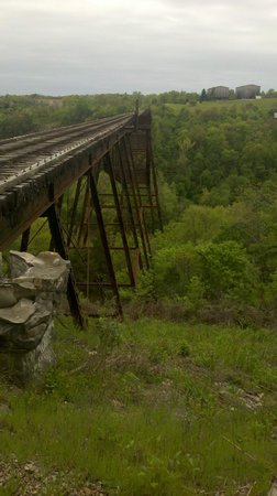 Bluegrass Scenic Railroad and Museum: Bridge. Staff said it's the only bridge of its type to have never been modified.