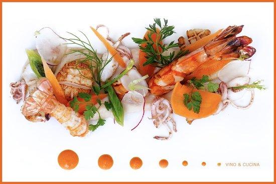 Vino & Cucina: insalata di frutti di mare ai fagioli di Pigna