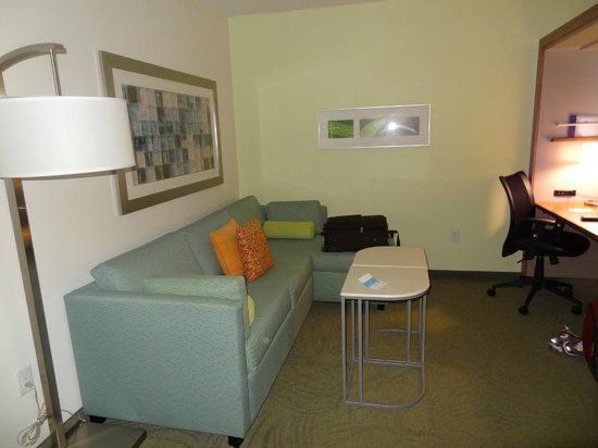 SpringHill Suites Houston The Woodlands: The living room from the door