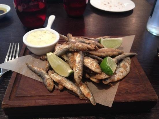 Maze Grill Mayfair: whitebait