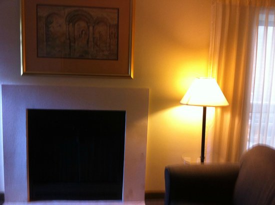 Chase Suite Hotel- Tampa: wood burning fireplace