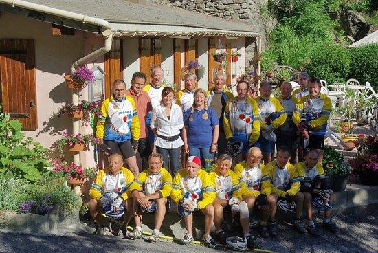 Les Terres Blanches : Groupe de cyclistes
