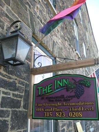 Inn at Stone Mill: sign