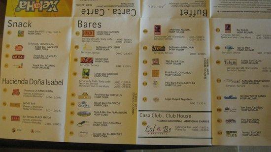 Grand Bahia Principe Coba: Bars and Restaurants