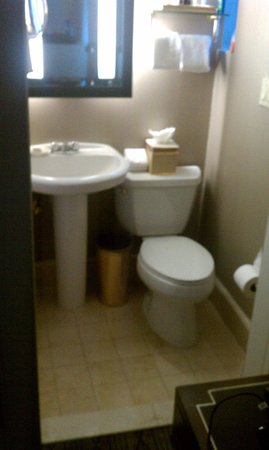 Carlton Hotel, Autograph Collection: You will love sitting at a 45-degree angle on this toilet while getting poked by the sink edge!