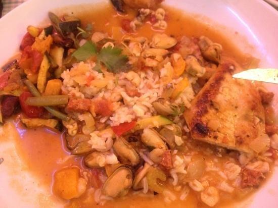 Enjoy Diner Soustons Beach: jambalaya poulet/fruit de mer