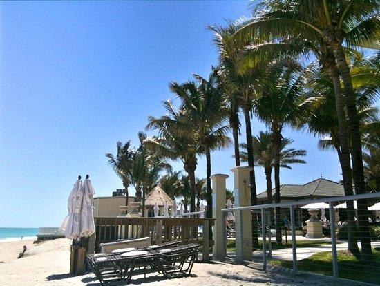 Kimpton Vero Beach Hotel & Spa: Liegebereich Hotel-Garten und Strand