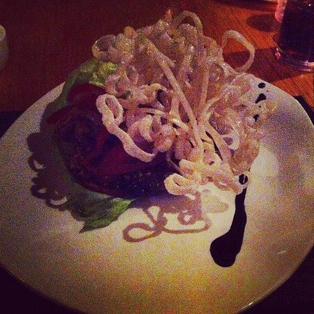 The Inn Boutique: sweet chilli beef with crispy noodles