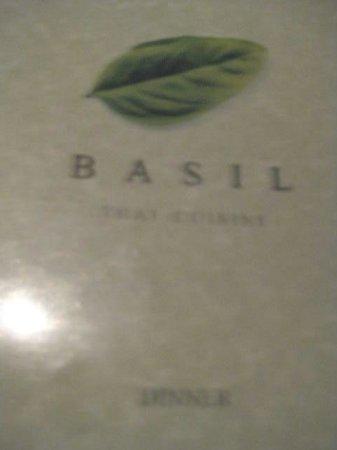 Basil Restaurant: Basil Menu cover