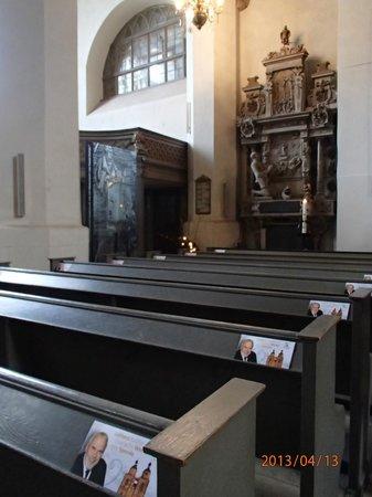 Stadtkirche: inside the church
