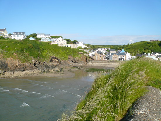 Pendyffryn Guesthouse and B&B: Little Haven from the Point