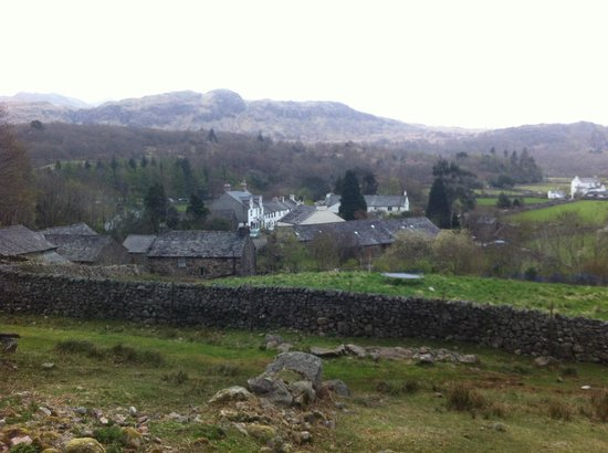 The Boot Inn: view of the village from the fells nearby.