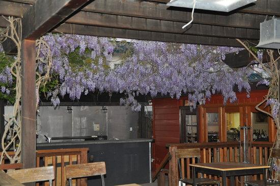 Canneti Roadhouse Italiana: back patio, enchanting