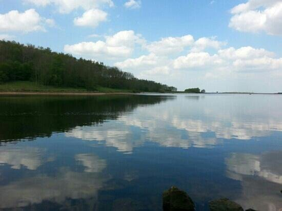 Foremark Reservoir: A view from shore to shore.