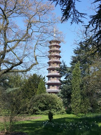 Premier Inn London Richmond Hotel : Some road side rooms you can see the Pagoda at Kew.