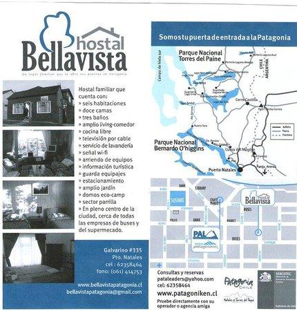 Hostal Bellavista Patagonia: Cartilla de promocion