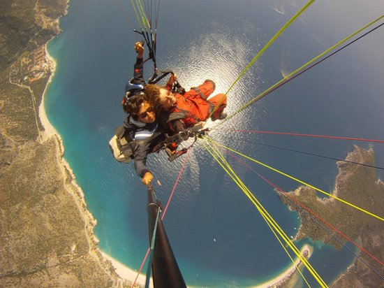 Magic Tulip Beach Hotel: Paragliding Over the Magic Tulip Beach Olu Deniz, Turkey