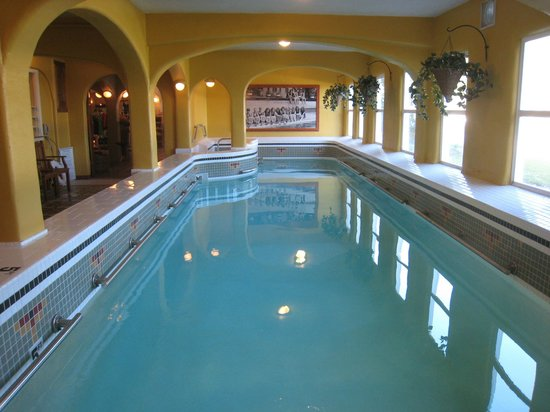 Rosario Resort and Spa : The 1909 indoor heated swimming pool in the basement.