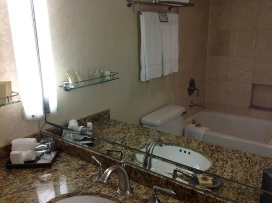 The Houstonian: Bathroom - small but nice