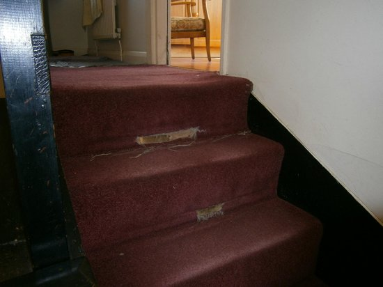 The Station Inn: The trip hazard on the stairs