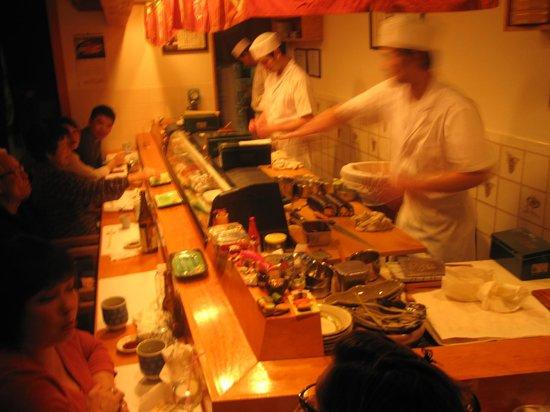 Zen Japanese Restaurant: The Chefs at work!