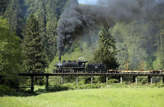 Oregon Coast Scenic Railroad: McCloud River 25 Crossing Nehalem River, Wheeler, OR