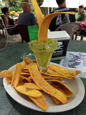The Point Sports Bar & Grill: plantain chips and guac