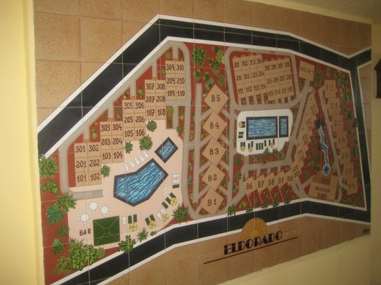 LABRANDA El Dorado: Map of layout of the apartments and grounds.