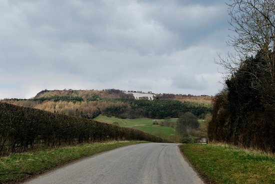 Thirsk, UK: white horse from kilburn