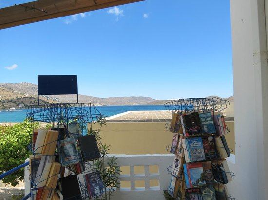 Eklektos Bookshop: Overlooking the bay towards Spinalonga