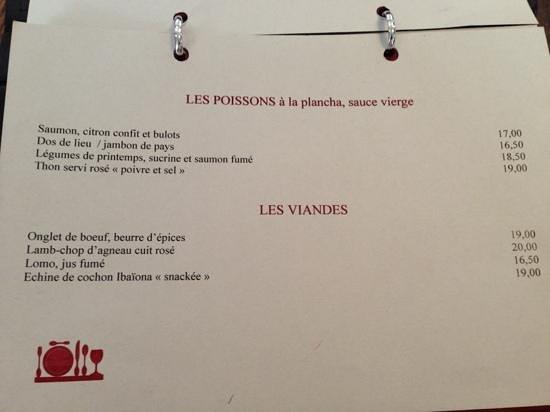 Carte des plats photo de la cantine du troquet dupleix paris tripadvisor - La cantine du troquet dupleix ...