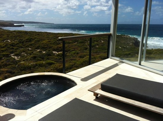 Southern Ocean Lodge: Our deck in the Osprey Pavilion