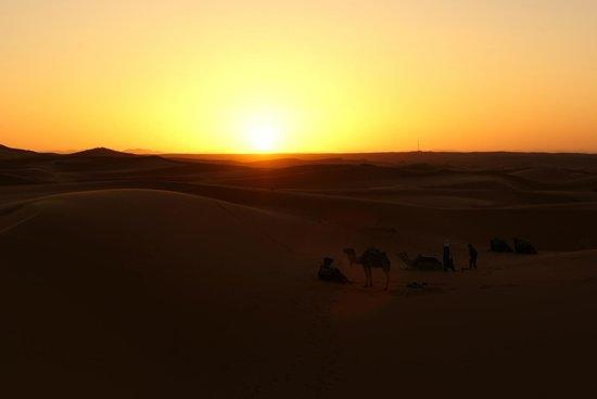 Belere Hotel Erfoud: Tramonto nel deserto