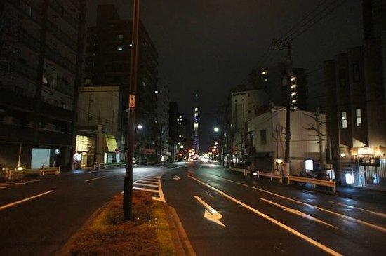 Bocchi Hostel : 宿舎周辺から見える東京スカイツリー
