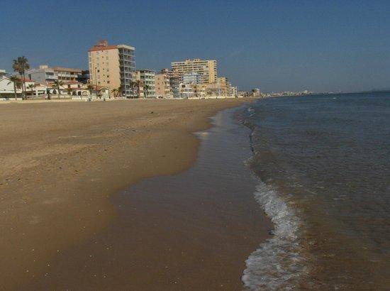Playa Miramar : Playa vista norte.